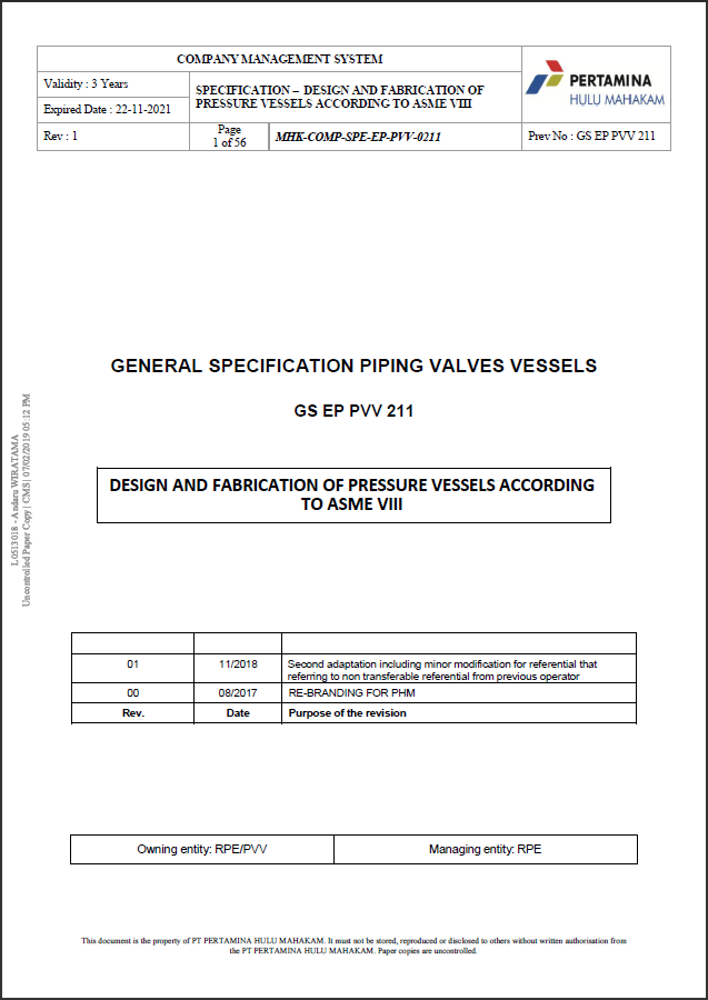 Figure 3.8 General Specification Piping Valves Vessels PVV-0211.png